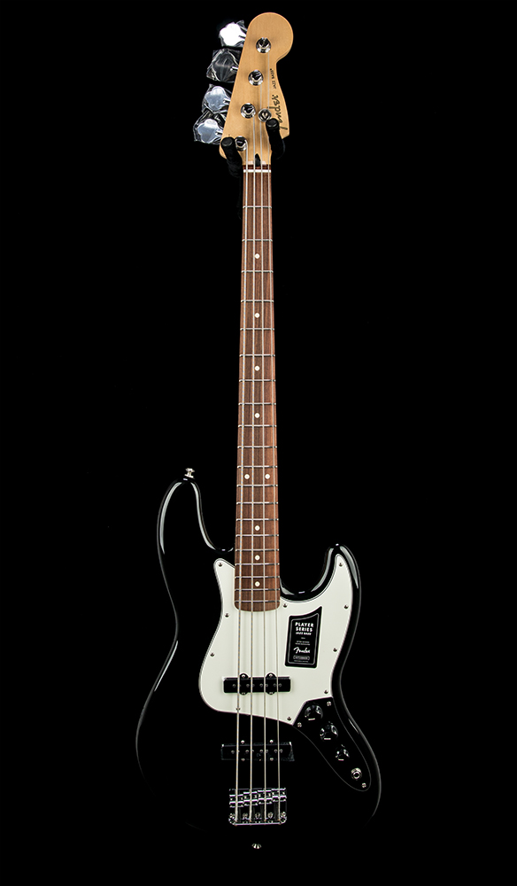 Fender Player Jazz Bass PF Black #MX20029166 Front