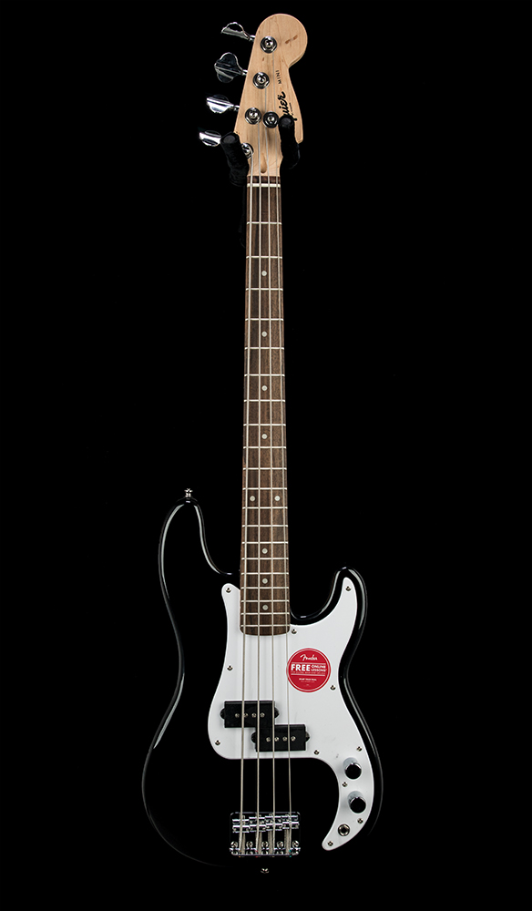 Squier Mini P Bass Blk Front