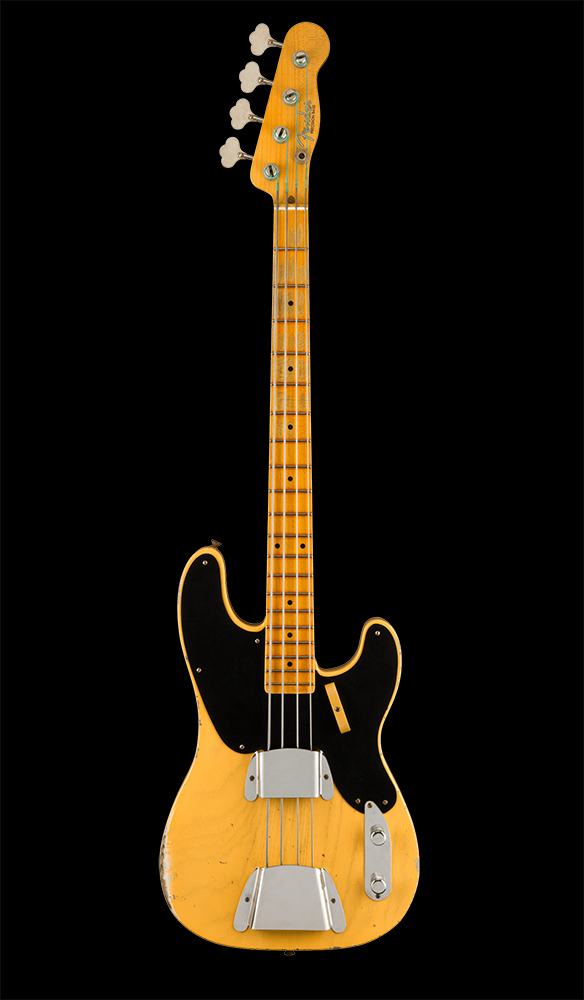 12 Limited Edition 1951 Precision Bass® Relic®, Maple Fingerboard, Aged Nocaster® Blonde Front