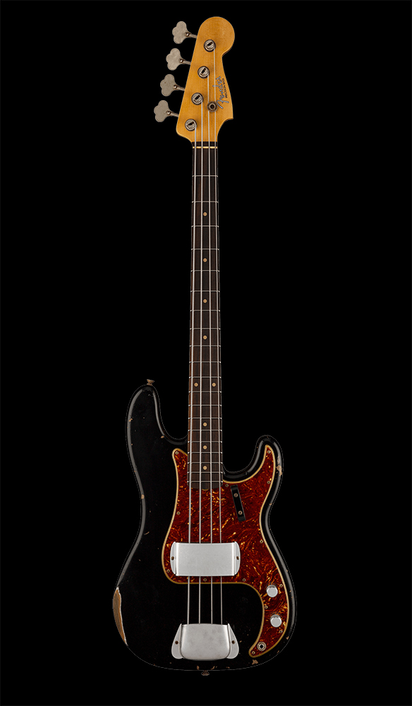 09 1961 Precision Bass® Relic®, Rosewood Fingerboard, Aged Black Front