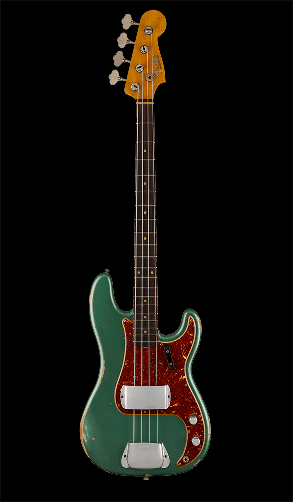 10 1961 Precision Bass® Relic®, Rosewood Fingerboard, Aged Sherwood Green Metallic Front