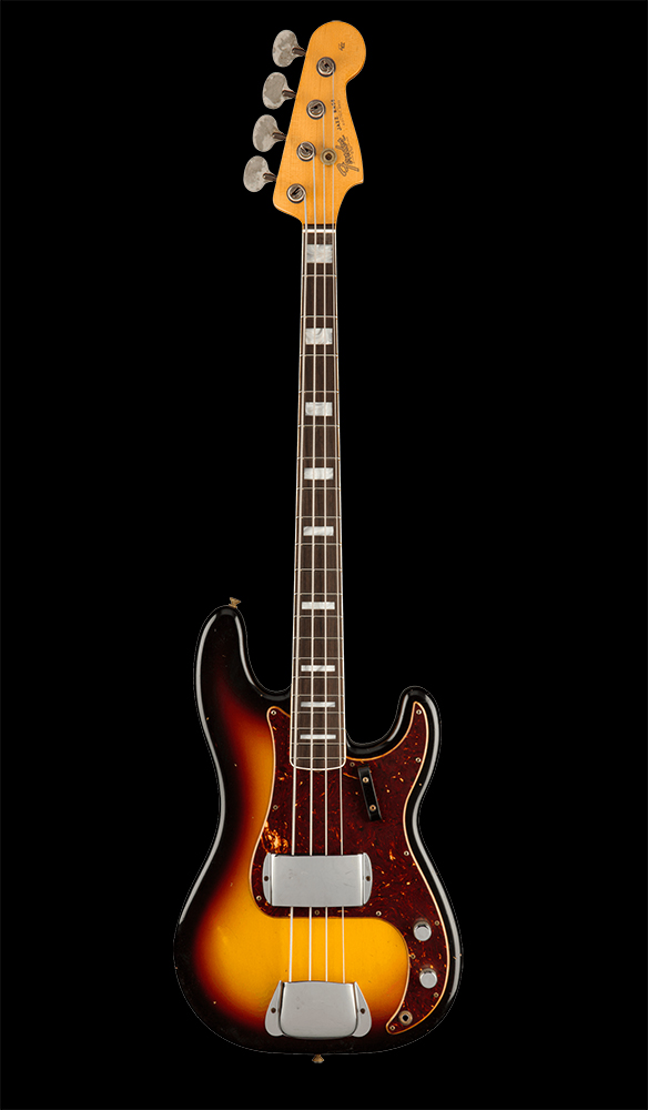 32 Limited Edition P:J Bass Journeyman Relic®, Rosewood Fingerboard, 3-Color Sunburst Front