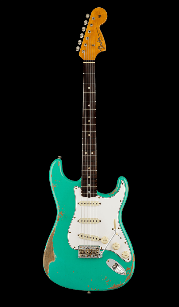 38 67 Stratocaster® Heavy Relic®, Rosewood Fingerboard, Aged Seafoam Green Front