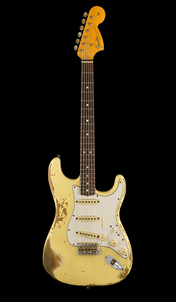 19 1967 Stratocaster® Heavy Relic®, Rosewood Fingerboard, Aged Vintage White Front