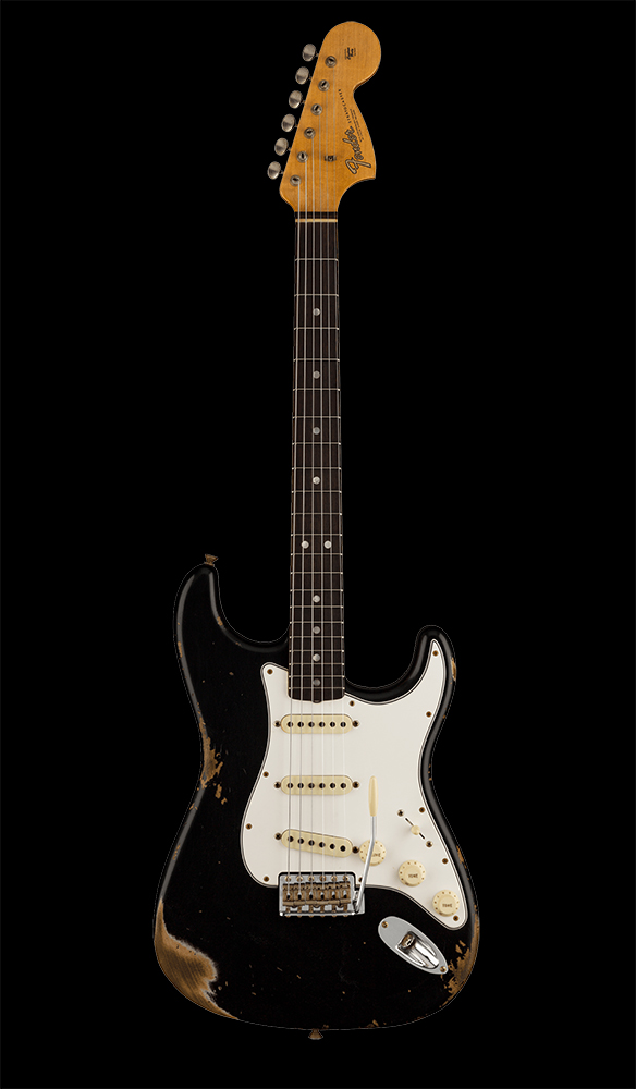 09 1967 Stratocaster® Heavy Relic®, Rosewood Fingerboard, Aged Black Front