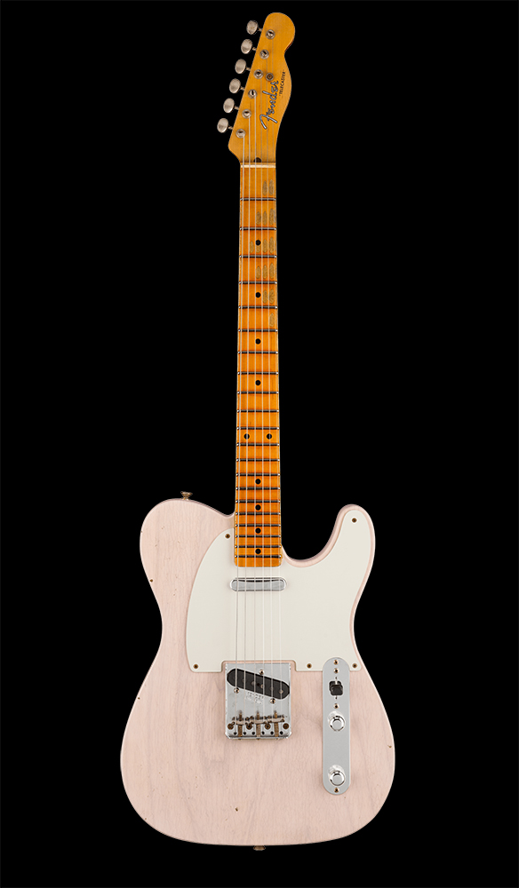 20 1955 Telecaster® Journeyman Relic®, Maple Fingerboard, Aged White Blonde Front