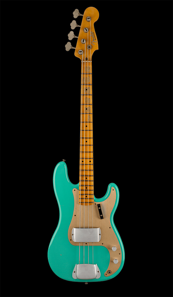 44 1959 Precision Bass® Journeyman Relic®, Maple Fingerboard, Faded Aged Seafoam Green Front