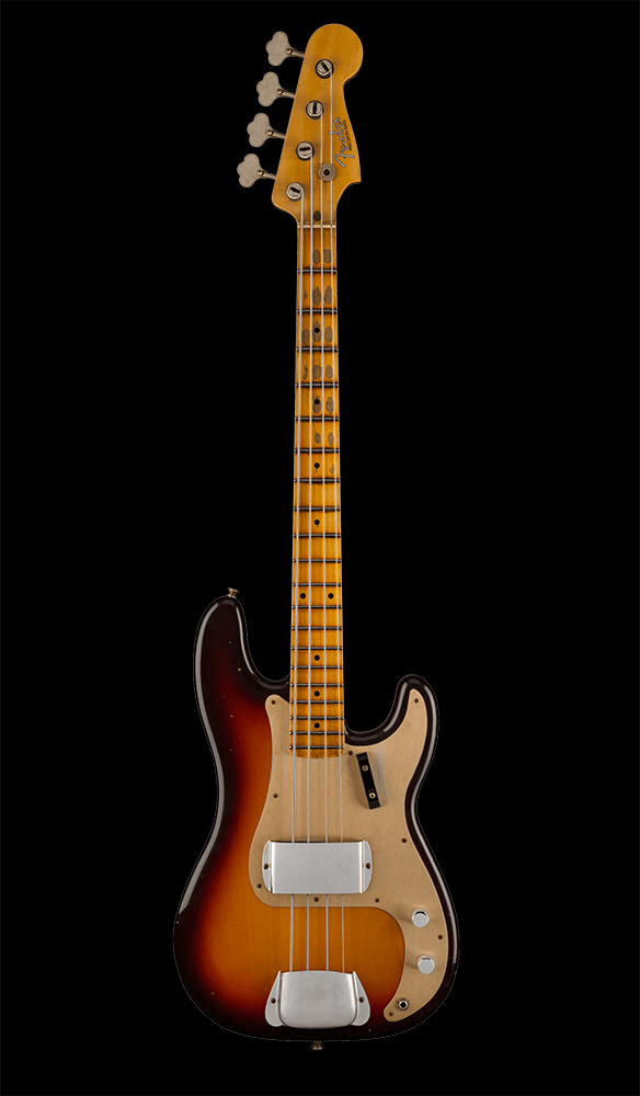 43 1959 Precision Bass® Journeyman Relic®, Maple Fingerboard, Chocolate 3-Color Sunburst Front