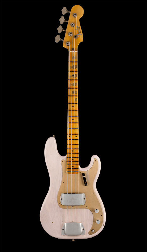 22 1959 Precision Bass® Journeyman Relic®, Maple Fingerboard, Aged White Blonde Front