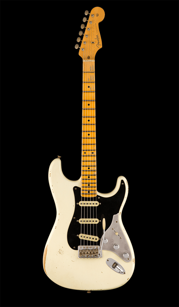 16 Limited Edition Poblano II Stratocaster® Relic®, Maple Fingerboard, Aged Olympic White Front