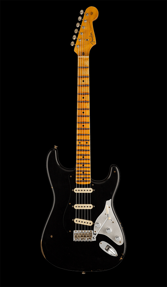 17 Limited Edition Poblano II Stratocaster® Relic®, Maple Fingerboard, Aged Black Front