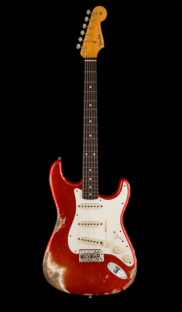 14 1959 Stratocaster® Heavy Relic®, Rosewood Fingerboard, Super Faded Aged Candy Apple Red Front
