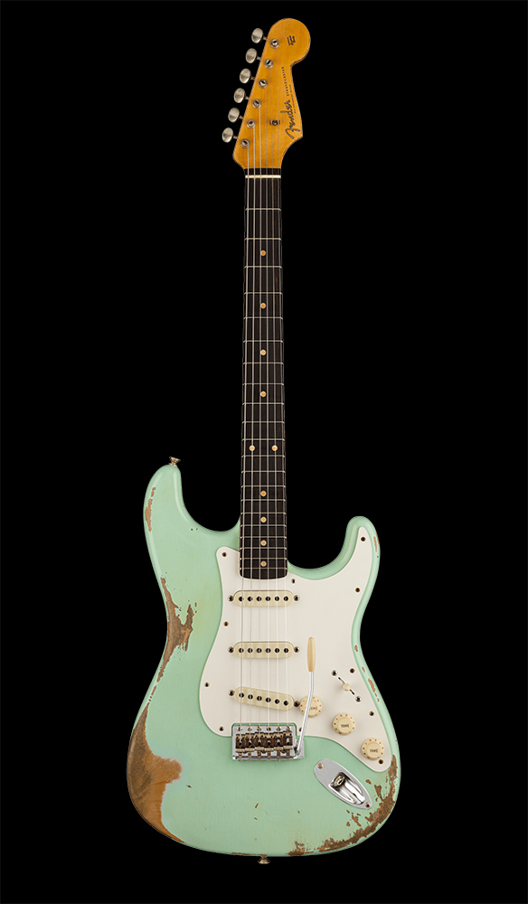 04 1959 Stratocaster® Heavy Relic®, Rosewood Fingerboard, Faded Aged Surf Green Front