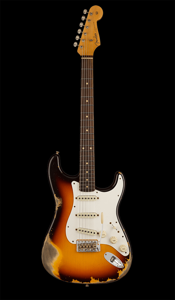 19 1959 Stratocaster® Heavy Relic®, Rosewood Fingerboard, Faded Aged Chocolate 3-Color Sunburst Front