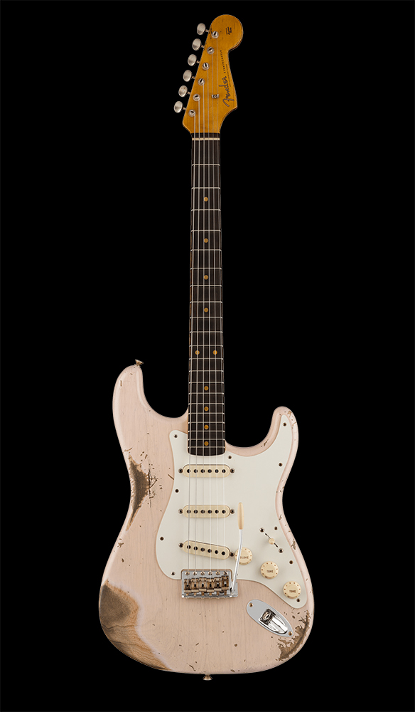 20 1959 Stratocaster® Heavy Relic®, Rosewood Fingerboard, Aged White Blonde Front