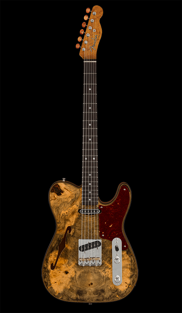 51 Artisan Buckeye Double Esquire® NOS, Rosewood Fingerboard, Aged Natural Front