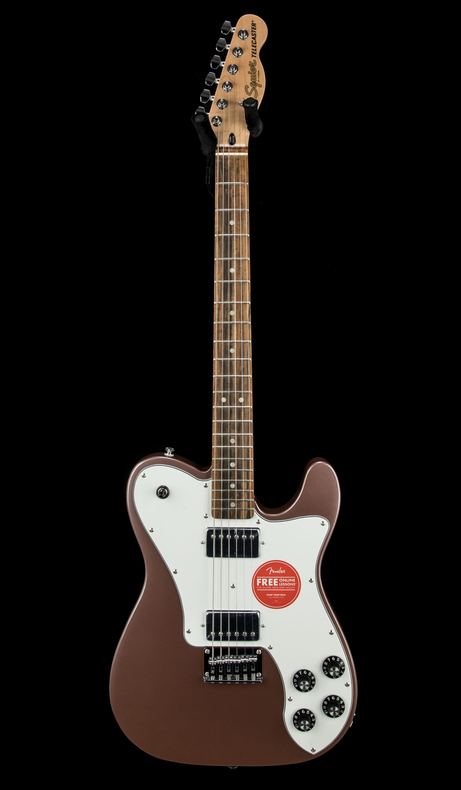Squier Affinity Tele Deluxe Burgundy Front