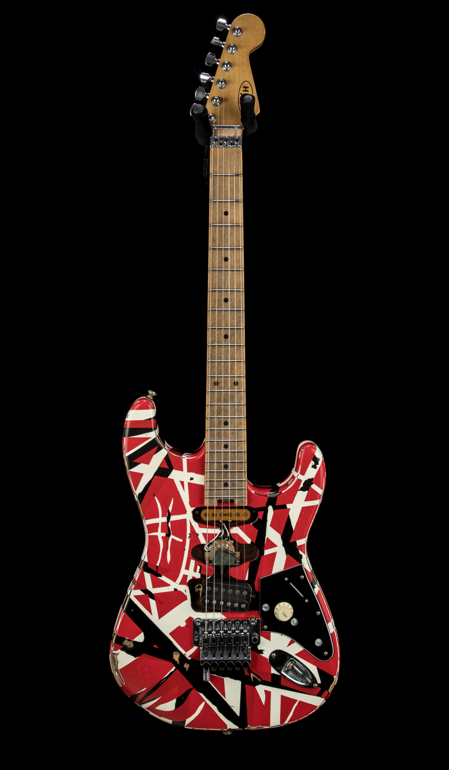 EVH Striped Series Frankie RBW Relic #EVH2104425 Front